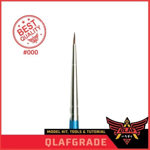Foto Produk Kuas 000 DETAIL / Brush gundam pilot model kit / brush bagian mata dari Wahkhilaf