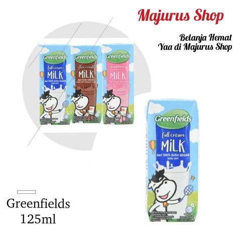 Foto Produk Susu UHT Greenfields 125ml - [1 Dus/40 pcs] - fullcream dari majurus shop