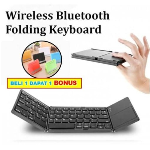 Foto Produk KYB-003 Bluetooth Wireless Keyboard Lipat Folding Magnetic Touchpad dari Distributor Aksesoris HP