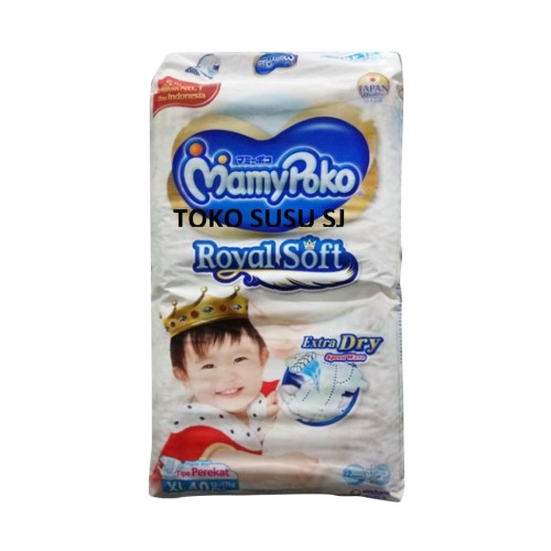 Foto Produk MAMYPOKO EXTRA/ ROYAL SOFT XL 40 / MAMY POKO EXTRA DRY XL40 /TAPE XL40 dari TOKO SUSU SJ