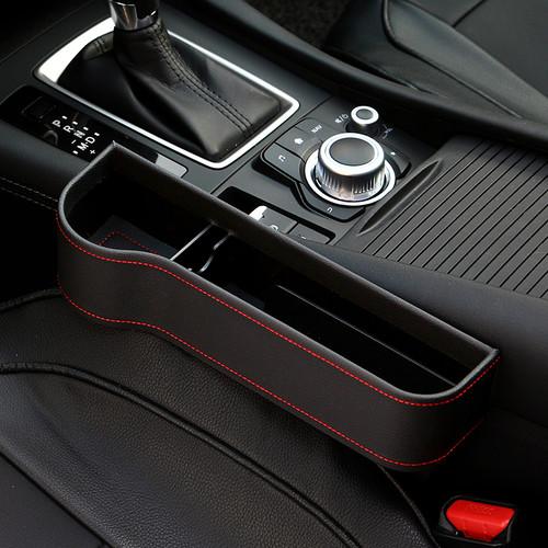 Foto Produk Front Seat Car Organizer Side Pocket Leather Accessories Aksesoris - Hitam dari RCmania Hobby