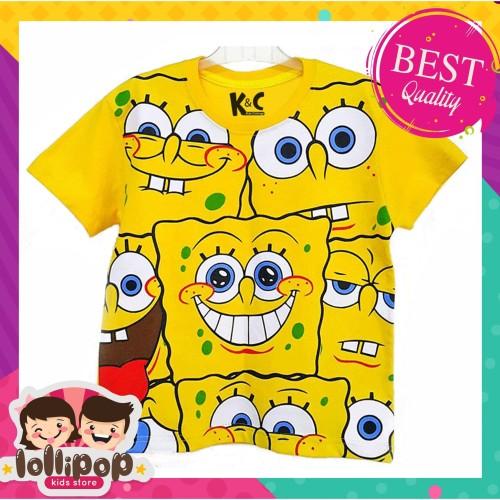 Foto Produk Kaos Anak Murah Lengan Pendek Lollipop Kids Store Spongebob Yellow - 1-2 Tahun dari Lollipop Kids Store