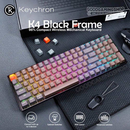 Foto Produk Keychron K4 RGB - Wired and Wireless Gaming Keyboard dari GOODGAMINGM2M