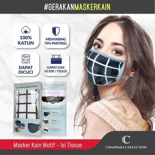 Foto Produk Masker Kain Katun Chandaka Collection-2 Lapis + Kantung Filter Motif dari Jaya Motorsport