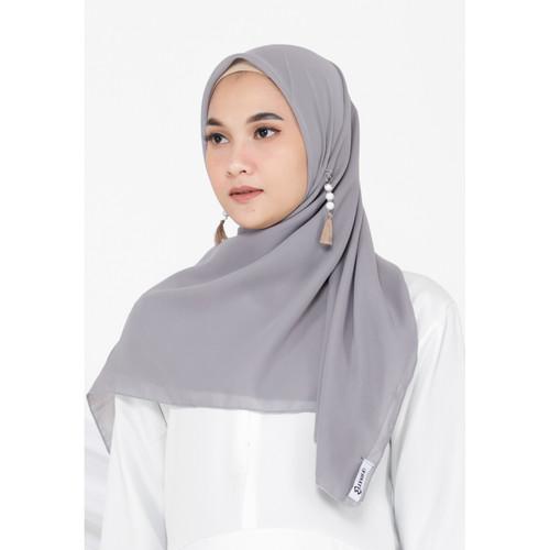 Foto Produk Hijab Ellysha FEIKA SIMPLY HIJAB SQUARE GREY dari Hijab Ellysha Official