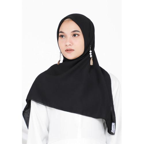 Foto Produk Hijab Ellysha FEIKA SIMPLY HIJAB SQUARE BLACK dari Hijab Ellysha Official