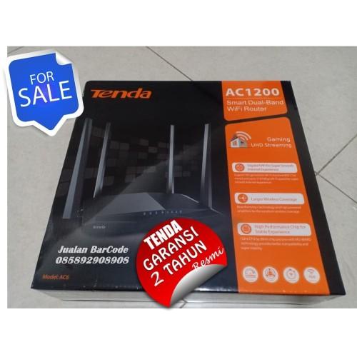 Foto Produk TENDA AC6 | AC-6 AC1200 Smart Dual-Band WiFI Router GARANSI RESMI dari JUALAN BAR CODE