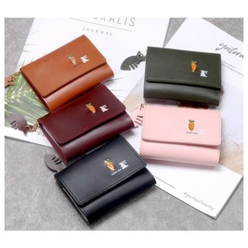 Foto Produk W52 Dompet Pendek Wanita Rabbit and Carrot / Women Short Wallet - pink dari EnnWen Online Store