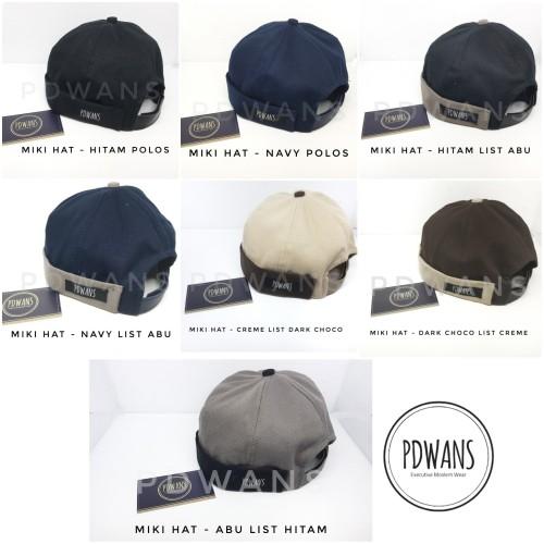 Foto Produk Miki Hat Peci Cap Beanie by PDWANS - Navy dari PDWANS Official Store
