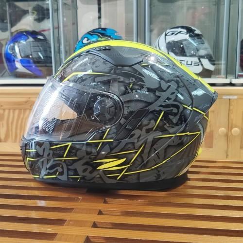 Foto Produk Helm Zeus ZS813 AN24 Grey Fluo Yellow - Fullface Double visor dari Juragan Helm ID