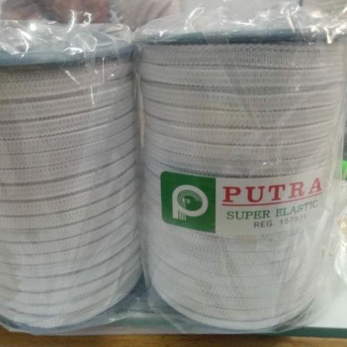 Foto Produk karet elastis baby/ karet elastis 4mm/ karet elastis buat masker - Putih dari onestar1927