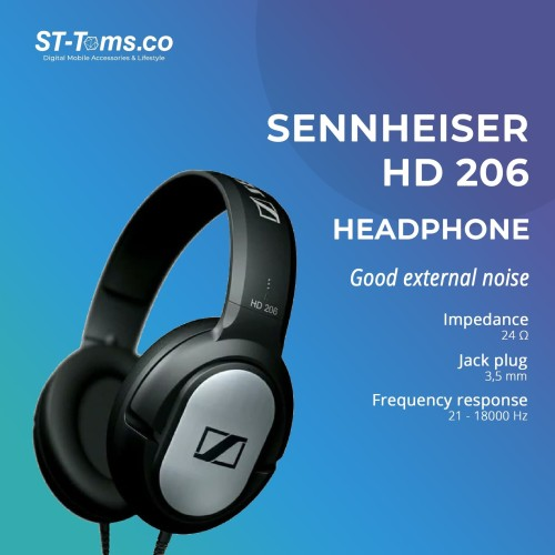 Foto Produk Sennheiser HD 206 / HD206 / HD-206 Headphone dari ST-Toms.co