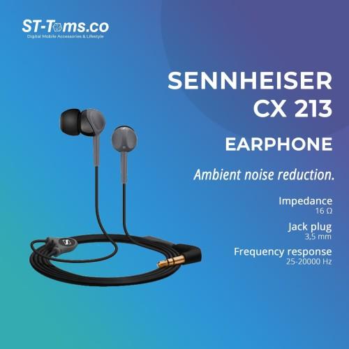 Foto Produk Sennheiser In Ear Earphone CX213 - Black dari ST-Toms.co