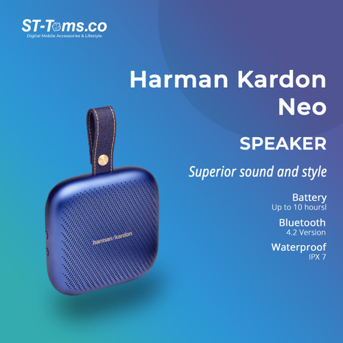 Foto Produk Harman Kardon Neo Speaker Bluetooth Portabel - Blue dari ST-Toms.co