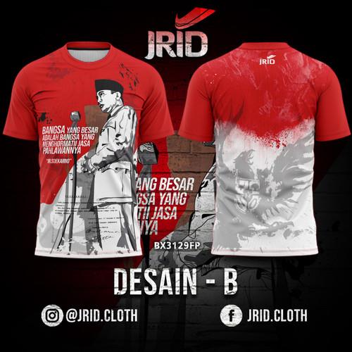 Foto Produk Kaos Baju Jersey Presiden Soekarno - Desain B - BX3130FP JRID - L dari jrid cloth