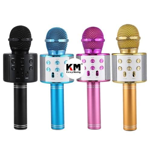 Foto Produk Mic Karaoke Bluetooth WS858 Smule Portable Wireless Microphone Speaker dari Keep Moving