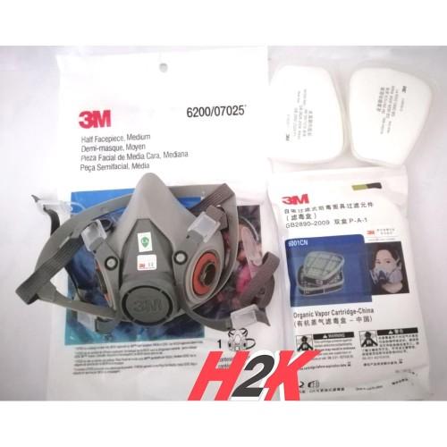 Foto Produk Masker / Respirator 3M 6200 Set dari H2K