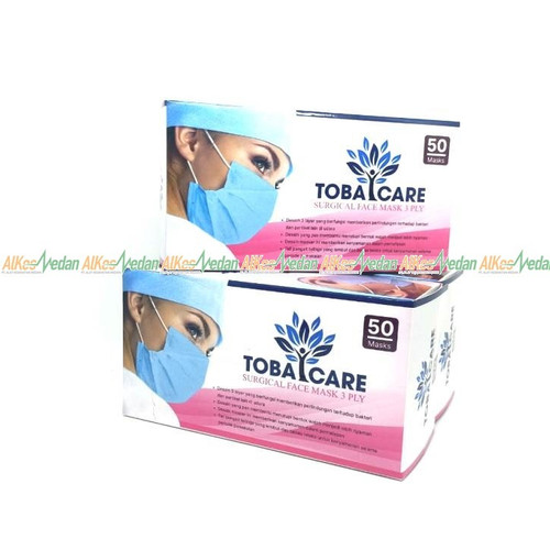 Foto Produk MASKER KARET EARLOOP 3PLY TOBACARE / SURGICAL FACE MASK 3 PLY TOBACARE dari Alkes Medan