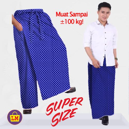 Foto Produk LM 09144 Celana Sarung Madinah Pria Muslim Ukuran JUMBO TERMURAH - Biru dari Lobby Mode