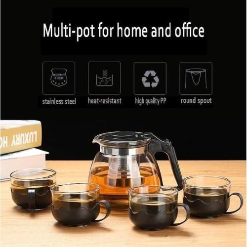 Foto Produk Set 5 in 1 Tea pot, Teko kaca dengan saringan dari CV SINAR BARU