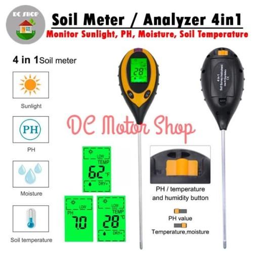 Foto Produk Digital Soil Analyzer / Tester / Meter Alat Ukur pH Tanah 4in1 /4 in 1 - TanpaBattery dari DC Motor Shop