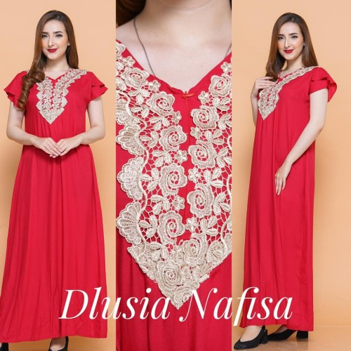 Foto Produk daster arab/india/dubai/turki dlusia nafisa dress busui adem dari murmershops & fashion