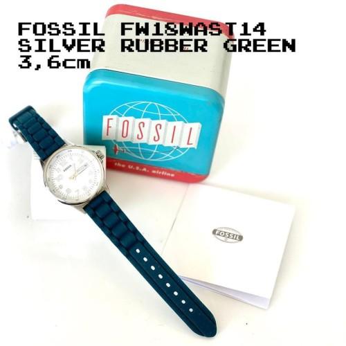 Foto Produk READY. FOSSIL FW18WAST14 SILVER RUBBER GREEN dari ferliarj16