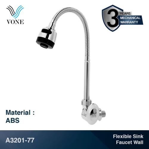 Foto Produk VONE A3201-77 Keran Kran Air Fleksibel Angsa Sink Wastafel Tembok ABS dari Vone Sanitary Indonesia