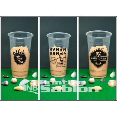 Foto Produk Sablon Cup Plastik - 22 Oz 9 Gram Merak (SLIM) 2.000 pcs dari NB Printing & Sablon