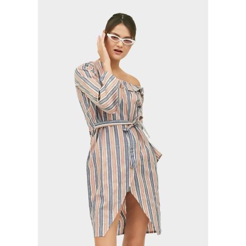 Foto Produk Empathy - Dress Batik Cap Modern - Sophia Dress - XL dari IWearEmpathy
