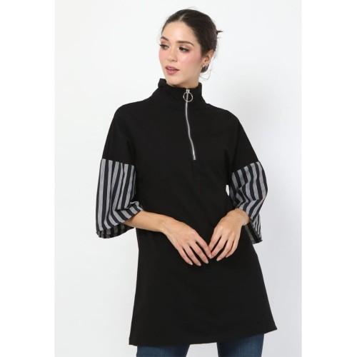 Foto Produk Empathy- Atasan Lurik- Kila Mini Dress Black - S dari IWearEmpathy
