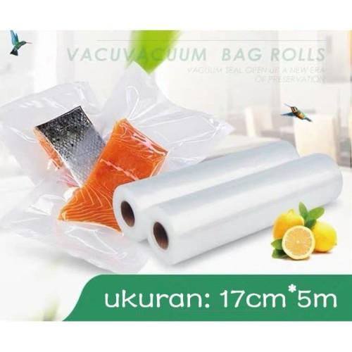 Foto Produk Refill Plastik Vacum Roll Emboss / Vacum Sealer Bag Food Grade - 17X500CM dari Alimajur store