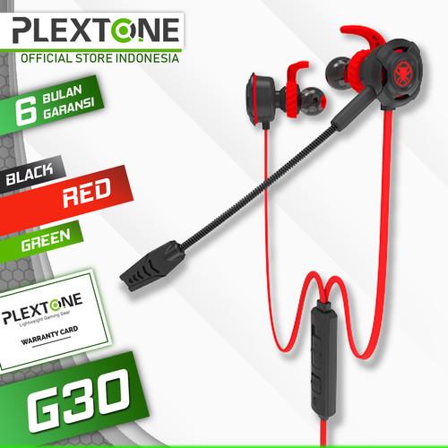 Foto Produk Plextone G30 with Mic Stereo Bass Gaming Hammerhead Earphone - Merah dari Plextone Official
