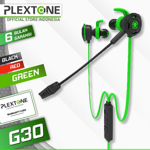 Foto Produk Plextone G30 with Mic Stereo Bass Gaming Hammerhead Earphone - Hijau dari Plextone Official