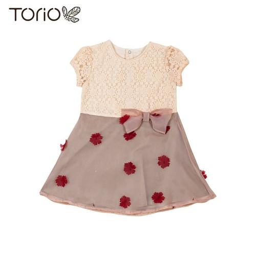 Foto Produk Torio Vintage Roses Classic Dress - Pakaian Dress Anak Perempuan - 5-6 tahun dari Torio