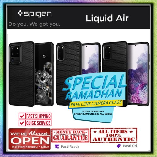 Foto Produk Samsung Galaxy S20 Ultra / S20 Plus / S20 Case SPIGEN LIQUID AIR - S20, Black dari Spigen Indonesia