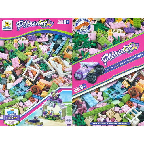 Foto Produk MB171 Mainan Anak Lego Block Brick Balok Susun Isi 1000pc Kit Building - 1000PCS PLEASAN dari Mmtoys Indonesia