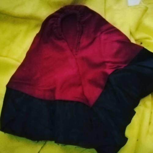Foto Produk jilbab merah hitam untuk kucing dari alhamdulillahshop