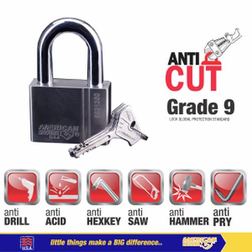 Foto Produk Gembok American Secure 60mm Gen 4 S931360 dari Teknik Mandiri indo