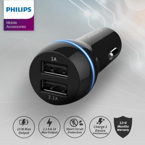 Foto Produk Car Charger DLP-2357 USB dari Philips Mobile Acc