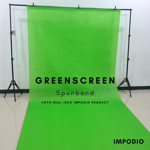 Foto Produk greenscreen spunbond backdropfoto hijau Ukuran 1.6m x 3m Impodio dari Sanjaya.store