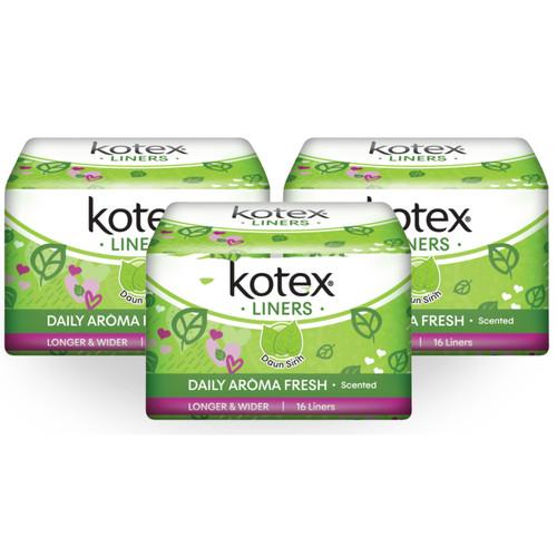 Foto Produk Kotex Liners Longer & Wider Daun Sirih 16s 3 Pack dari KOTEX HUGGIES INDONESIA