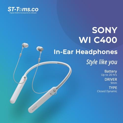 Foto Produk Sony WI C400 / WIC400 / C400 Wireless In-Ear Headphones Putih dari ST-Toms.co