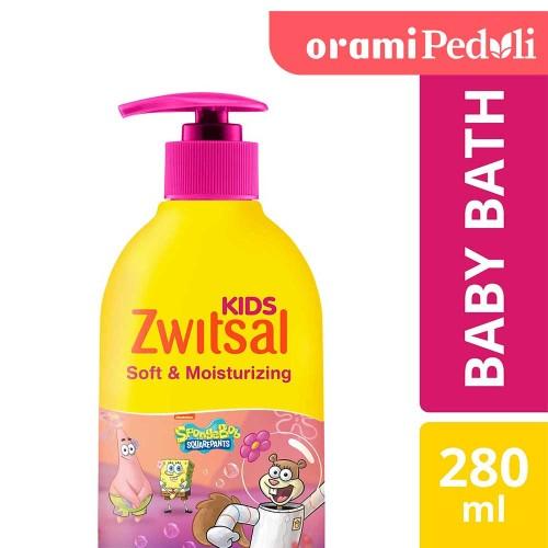 Foto Produk ORAMI - Zwitsal Kids Bubble Bath Pink Soft & Moisturizing 280ml dari Orami