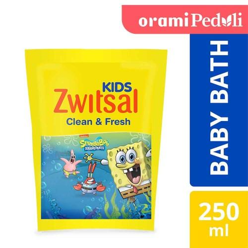 Foto Produk ORAMI - Zwitsal Kids Bubble Bath Blue Clean & Fresh 250ml dari Orami