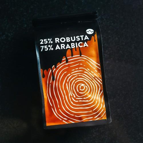Foto Produk BIJI KOPI 200 GRAM 75/25 whole bean blend es kopi susu arabica robusta dari Space Roastery