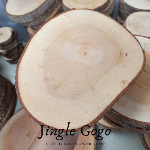 Foto Produk Wood slice 20 - 22 cm potongan kayu rustic woodslice seserahan foto - 20 -22 cm dari Jingle GOGO