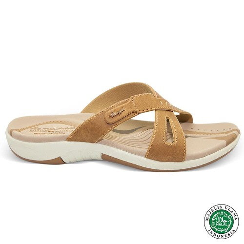 Foto Produk Homyped Ashley N36 Coklat Muda Sandal Flat Wanita - 36 dari Homyped Official