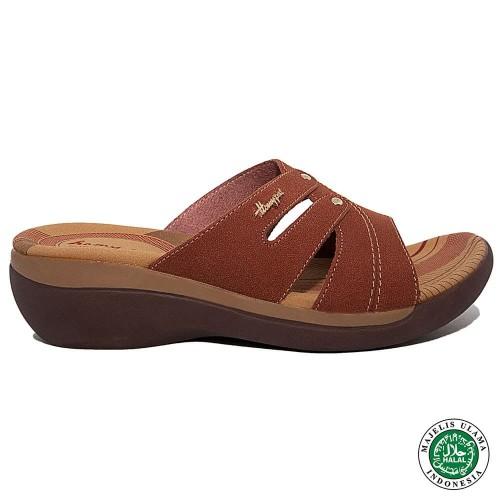 Foto Produk Homyped Emery N57 Sandal Wedges Wanita Oranye - 36 dari Homyped Official