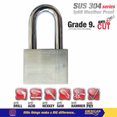 Foto Produk Gembok American Secure 50mm Panjang S831350 dari Teknik Mandiri indo